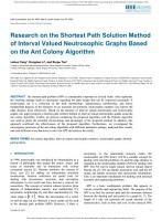 Research on the Shortest Path Solution Method of Interval Valued Neutrosophic Graphs Based on the Ant Colony Algorithm PDF