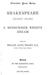 Select Plays A Midsummer Night S Dream PDF