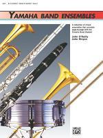 Yamaha Band Ensembles, Book 1 for Clarinet or Bass Clarinet