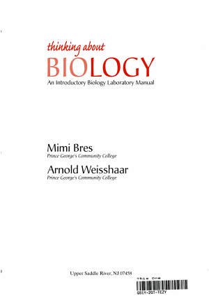 Thinking about Biology PDF