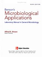 Benson s Microbiological Applications PDF