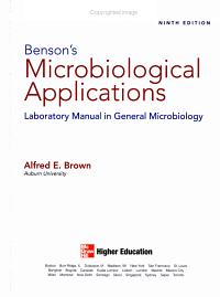 Benson s Microbiological Applications Book