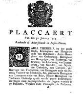 Placcaert van den 30. January 1744, raekende de acker-schaede en bosch-dieven