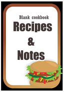 Blank Cookbook  Recipe Book  Journal Book  Cookbook  Cook Notebook Book