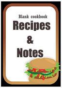 Blank Cookbook  Recipe Book  Journal Book  Cookbook  Cook Notebook