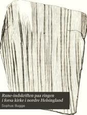 Rune-indskriften paa ringen i forsa kirke i nordre Helsingland