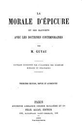 Le morale d'Épicure et ses rapports avec les doctrines contemporaines