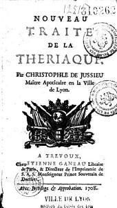 Nouveau traité de la thériaque