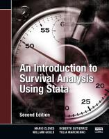 An Introduction to Survival Analysis Using Stata  Second Edition PDF