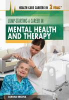 Jump Starting a Career in Mental Health and Therapy PDF