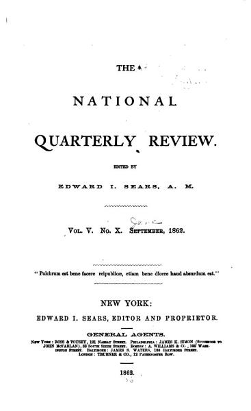 Download The National Quarterly Review Book
