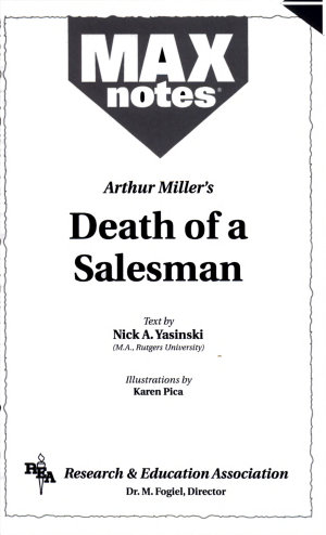 Death of a Salesman by Arthur Miller  MAXnotes