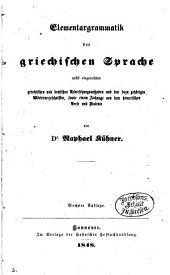 Elementargrammatik der griechischen Sprache, 6. Aufl
