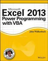 Excel 2013 Power Programming with VBA PDF