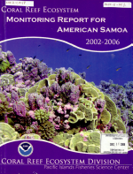 Coral Reef Ecosystem Monitoring Report for American Samoa  2002 2006 PDF