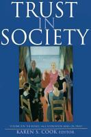 Trust in Society PDF