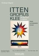 Itten  Gropius  Klee am Bauhaus in Weimar PDF
