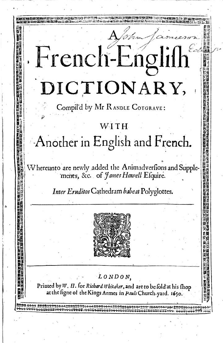 A French-English Dictionary