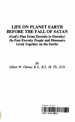 Life on Planet Earth Before the Fall of Satan