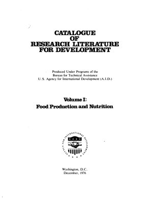 Catalogue of Research Literature for Development  Food production and nutrition PDF
