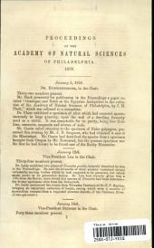 Proceedings of The Academy of Natural Sciences, 1858