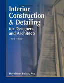 Interior Construction   Detailing for Designers and Architects