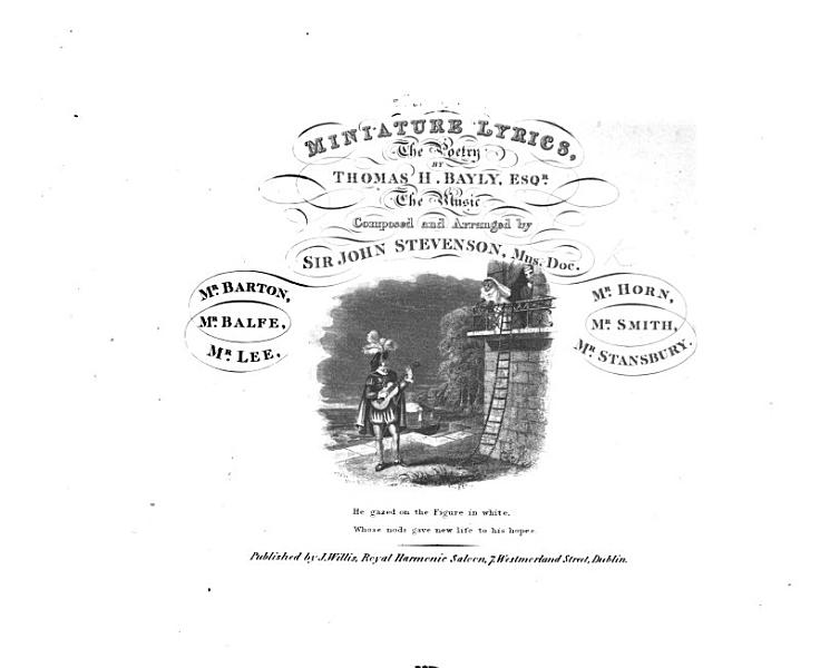 Download Miniature Lyrics  the poetry by Thomas H  Bayly     The music composed and arranged by Sir J  Stevenson  and others   etc  no  1 3 Book