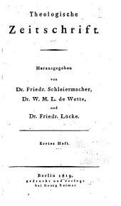Theologische Zeitschrift: Band 1