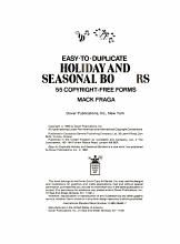 Easy to Duplicate Holiday and Seasonal Borders PDF