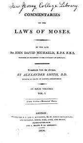 Commentaries on the Laws of Moses: Volume 1