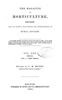 Magazine of Horticulture  Botany  and All Useful Discoveries and Improvements in Rural Affairs PDF
