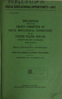 Hearings  Reports and Prints of the Senate Select Committee on Equal Educational Opportunity PDF