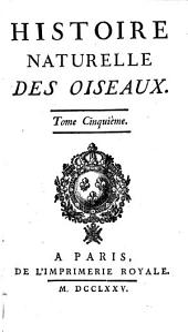 Histoire naturelle des oiseaux: Volume4