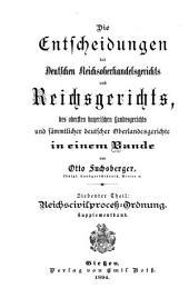 Die Entscheidungen des Reichsgerichts: Band 7