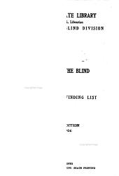 Books for the blind: circular and finding list