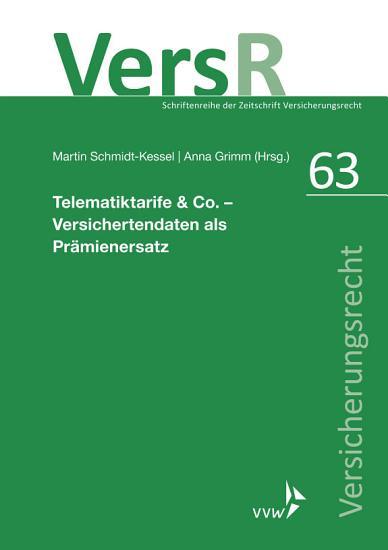 Telematiktarife   Co    Versichertendaten als Pr  mienersatz PDF