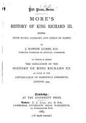 History of King Richard III ...