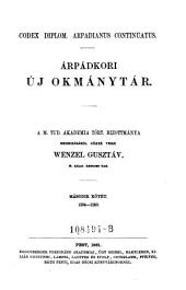 Codex diplom. arpadianus continuatus. Arpadkori uj okmanytar ... Masodik kötet 1234-1260. (Neues Urkundenbuch aus der Zeit der Arpaden): 1A,7
