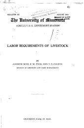 Labor requirements of livestock