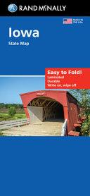 Rand McNally Easy to Fold: Iowa State Laminated Map
