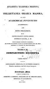 Analekta hellēnika meizona (romanized form) , sive, Collectanea graeca majora: ad usum academicae juventutis accommodata, Τόμος 2