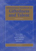 International Handbook of Giftedness and Talent PDF