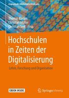 Hochschulen in Zeiten der Digitalisierung PDF