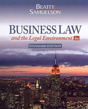 Business Law and the Legal Environment  Standard Edition PDF