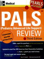 Pediatric Advanced Life Support Review  2007  pals 2007 Edition PDF