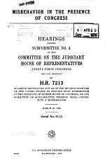Misbehavior in the Presence of Congress
