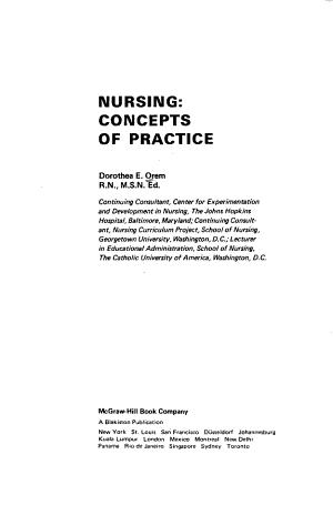 Nursing  Concepts of Practice PDF