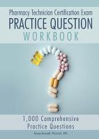 Pharmacy Technician Certification Exam Practice Question Workbook PDF