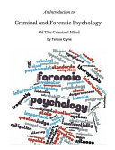 An Introduction to Criminal and Forensic Psychology PDF