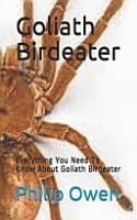 Goliath Birdeater PDF